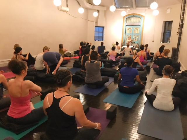 "Yoga for healing & celebration of ""Louisiana Catch"" at Ishta Yoga."