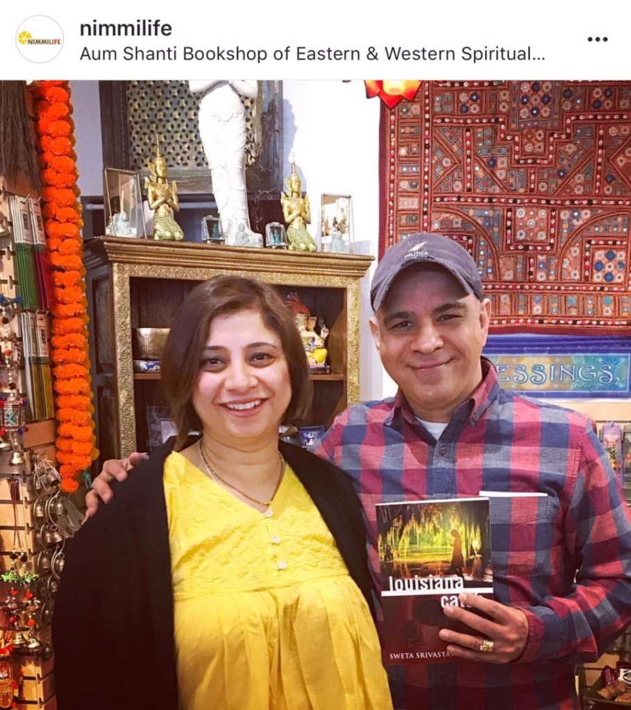 Our CEO-Founder @swetavikram with the owner of Aum Shanti Bookshop in NYC.