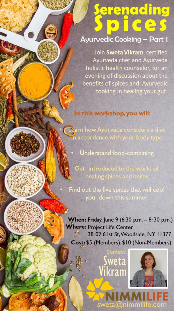 Workshop: Ayurvedic Cooking and Benefits of Spices