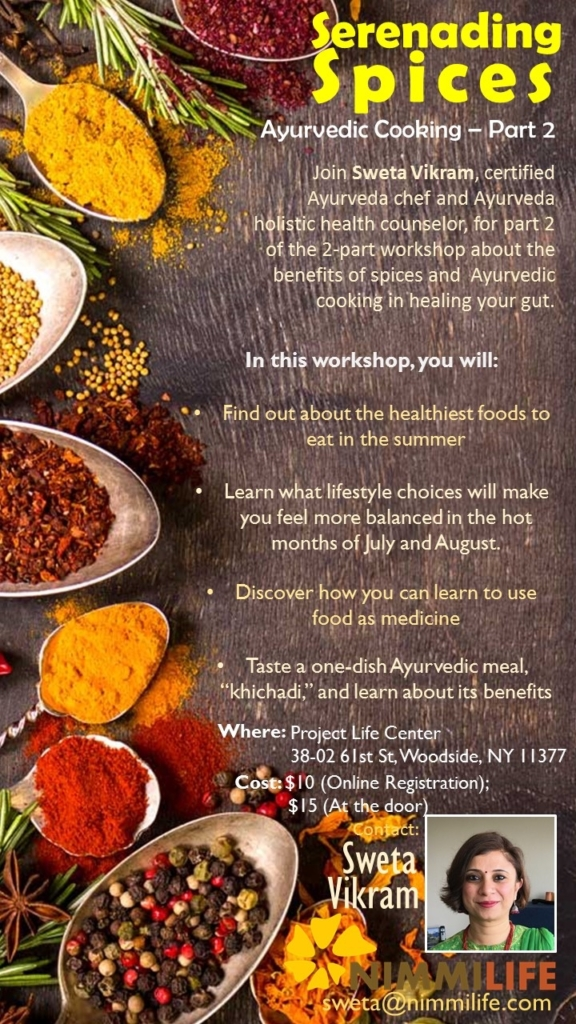 Workshop: Ayurveda Cooking and Benefits of Spices - Part 2